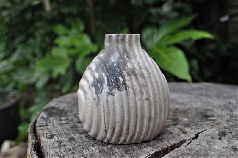 TWE019, Pit Fire Bud Vase 3