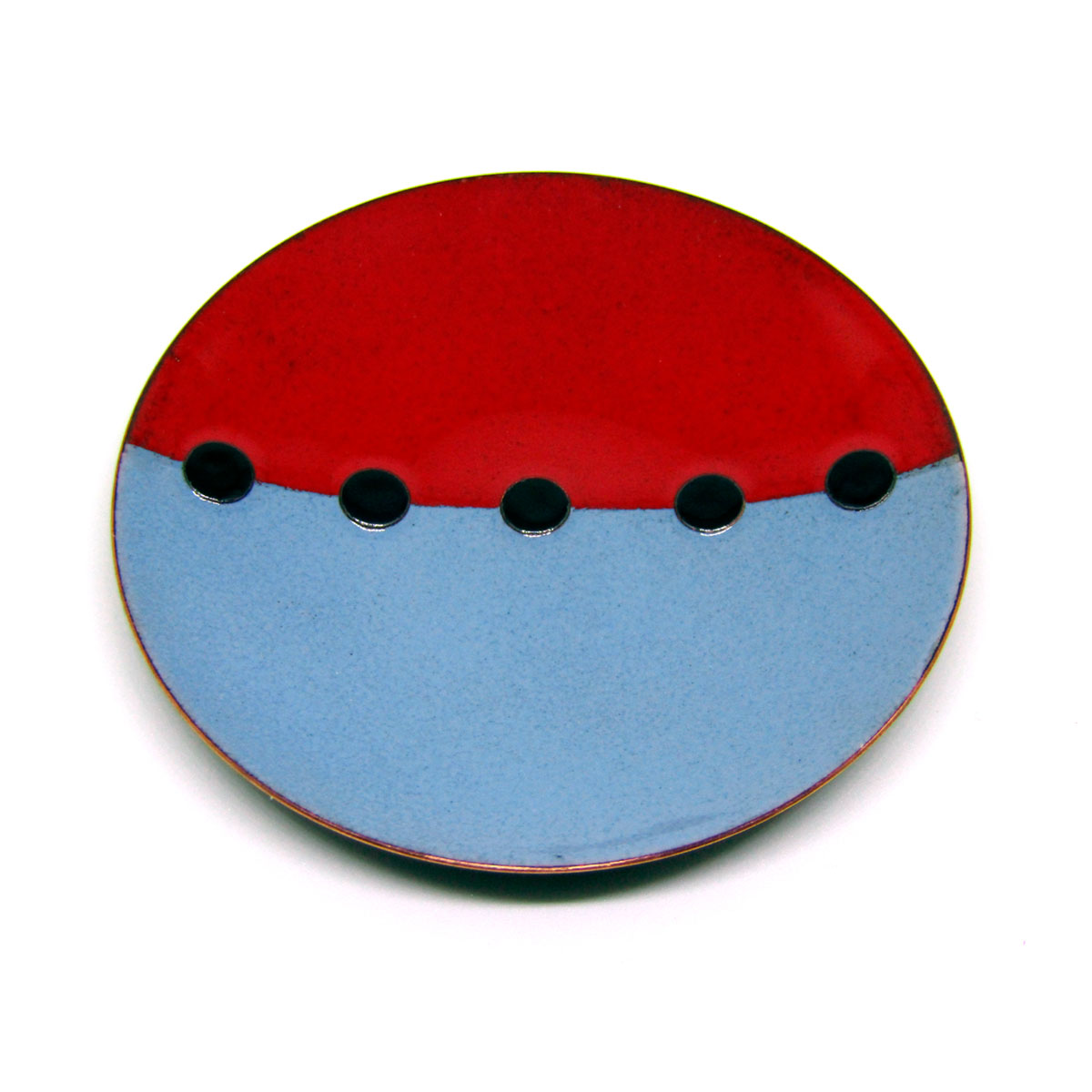 MCA131, Tricolour Red Grey Black Dish