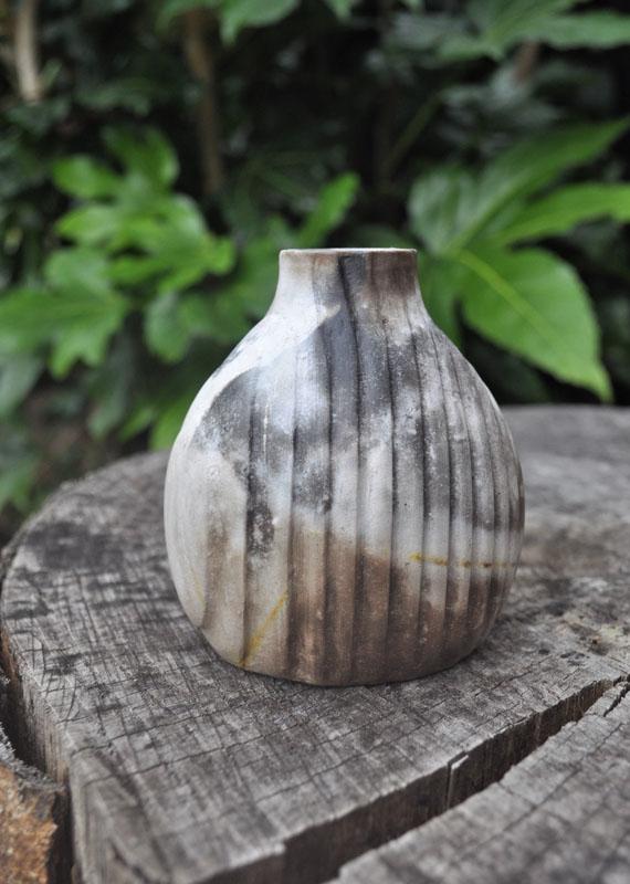 TWE017, Pit Fire Bud Vase 1