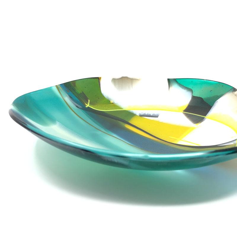 SHI306, Abstract Green/Yellow Bowl