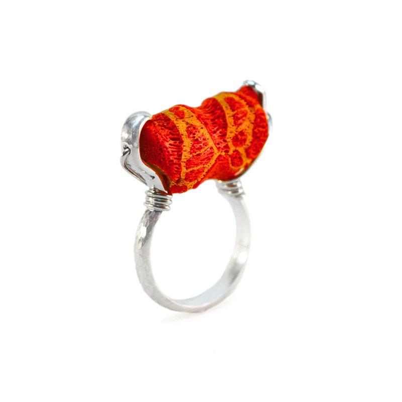 WES167, Sponge Coral Ring