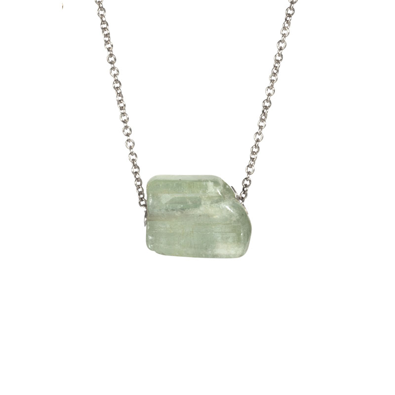 WES109, Reflected Moonlight Aquamarine necklace