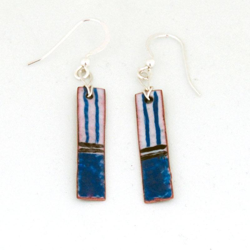 MCA203, Azure Stripe Earrings