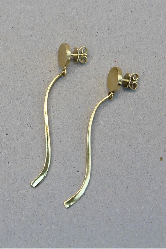 KEI048, Drop Earrings 14ct solid Gold