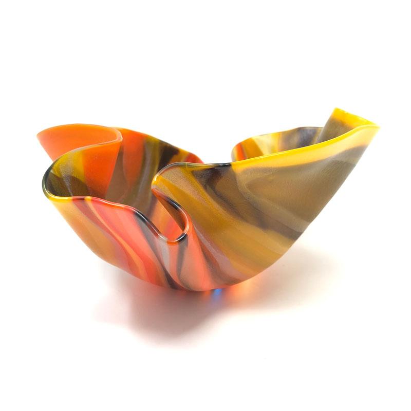 SHI324, Small Striped Orange Drape