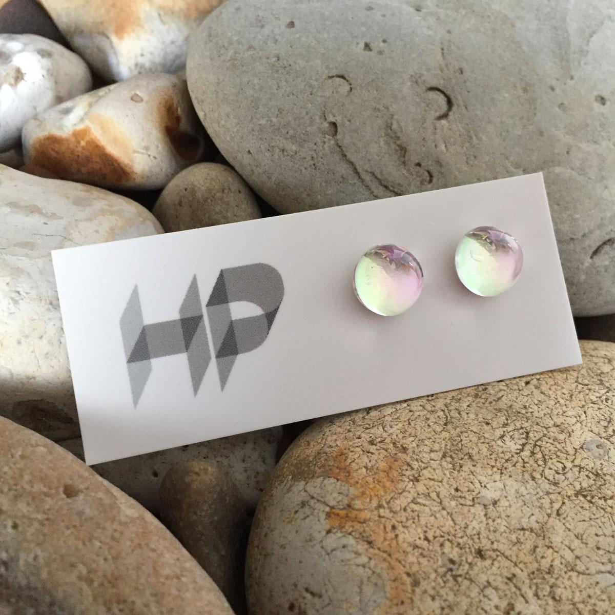 PAX352, Dazzle - Round Semispherical Stud Earrings