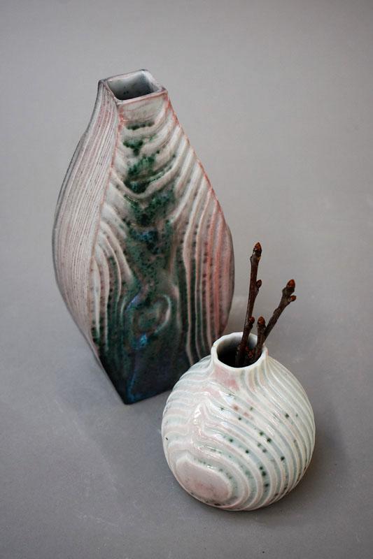 TWE004, Oribe Flow Vase