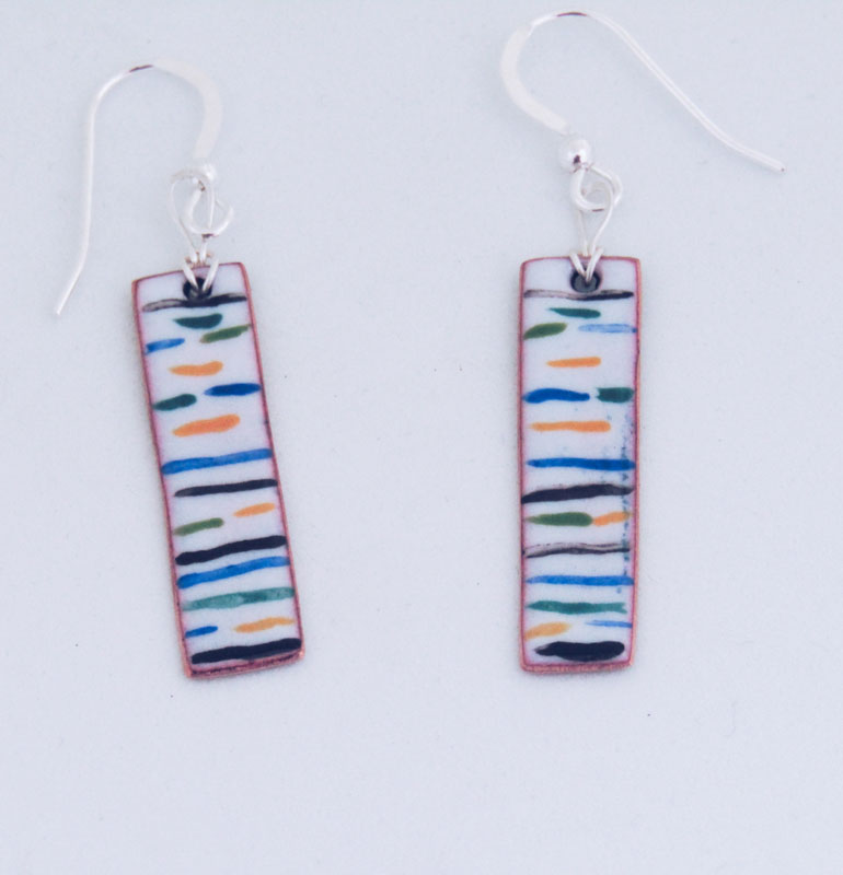 MCA186, Multi Stripe Earrings