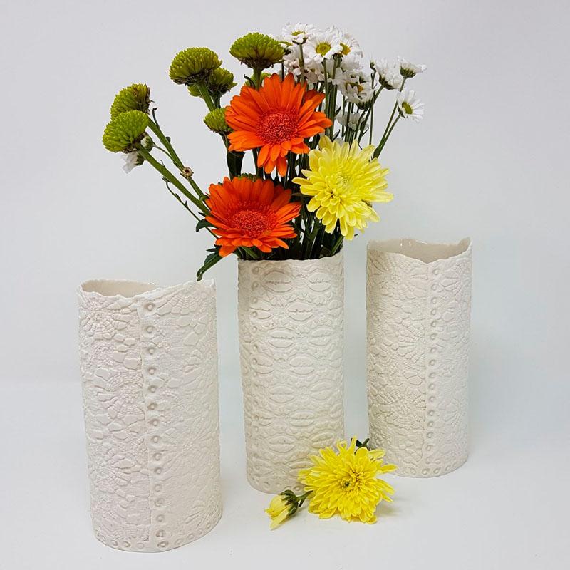 BRI118, Buttoned Up Vase