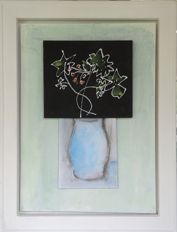 CHA187, Flowers + Vase No.3