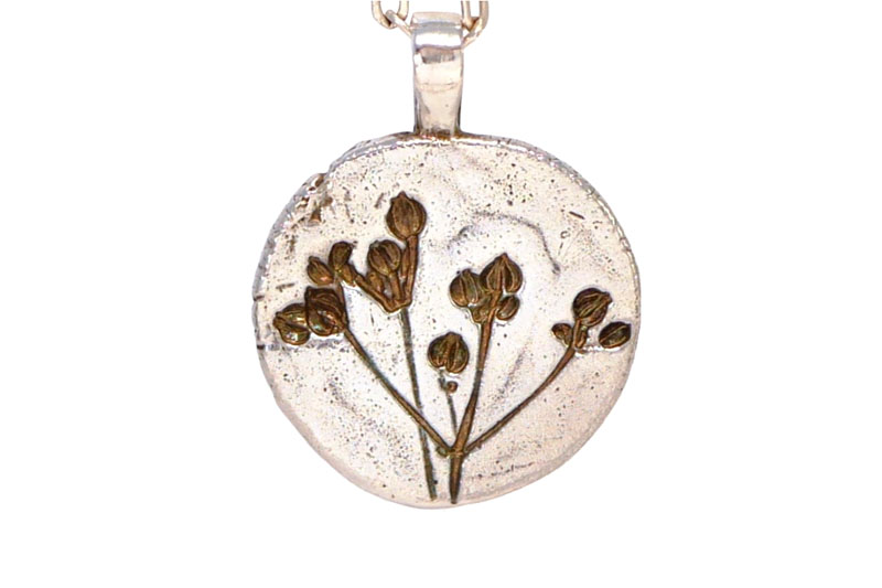 WES053, Stone Parsley flat pendant