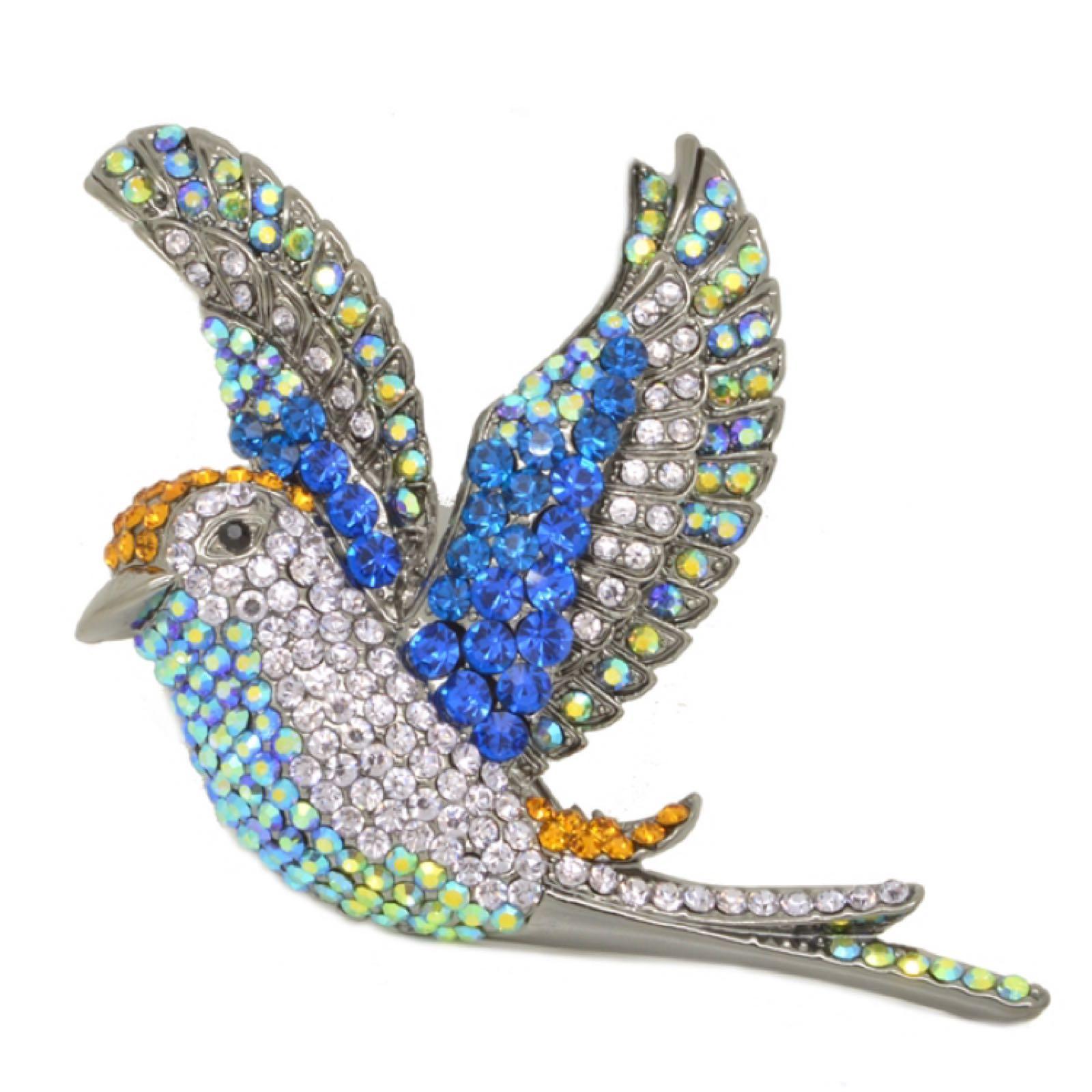 Last true angel bird brooch