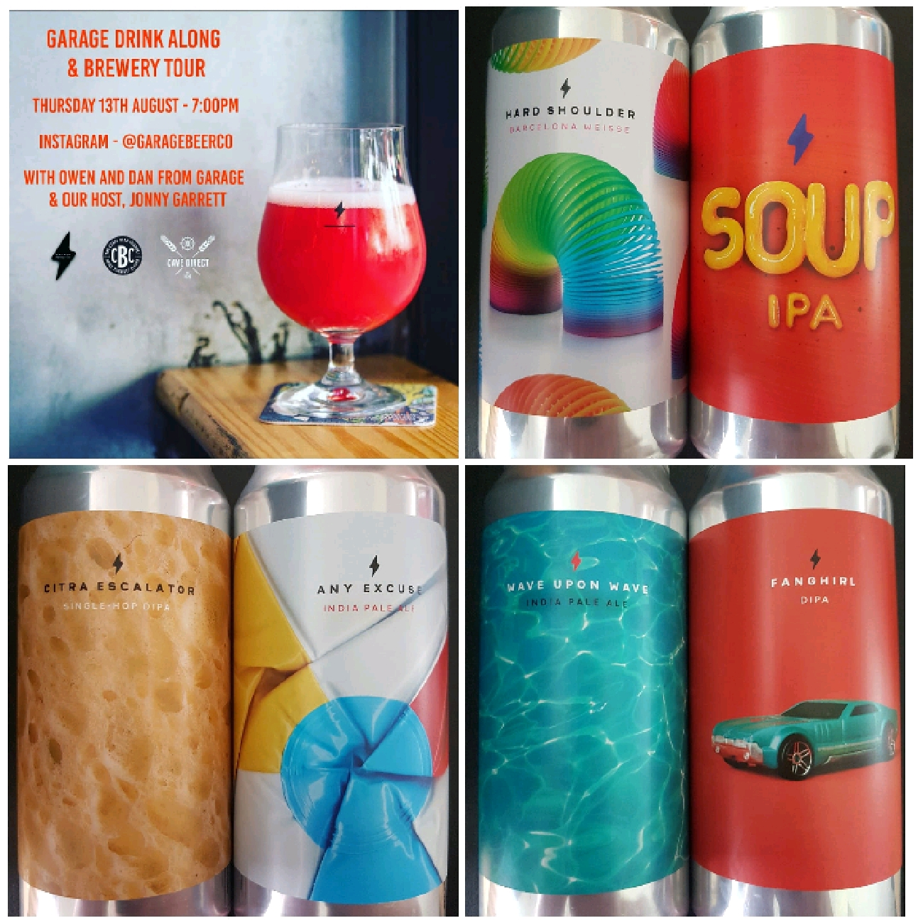 Garage Virtual Tasting beers (6x440ml cans)