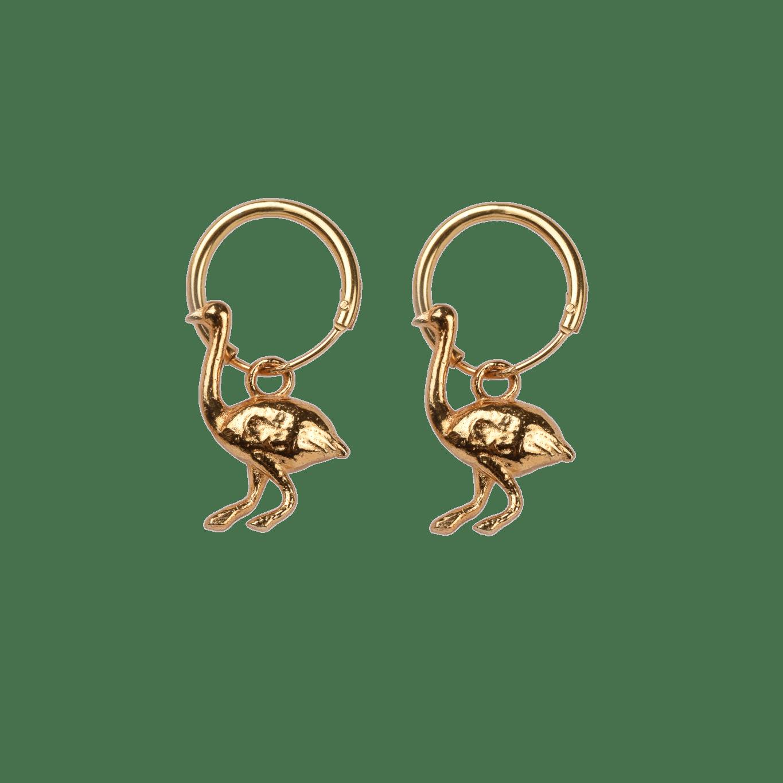Gold Ostrich Earrings