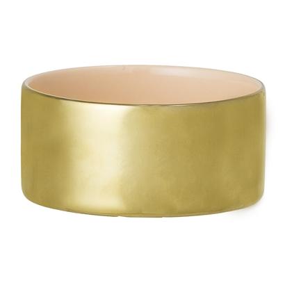 Gold Stoneware Votive