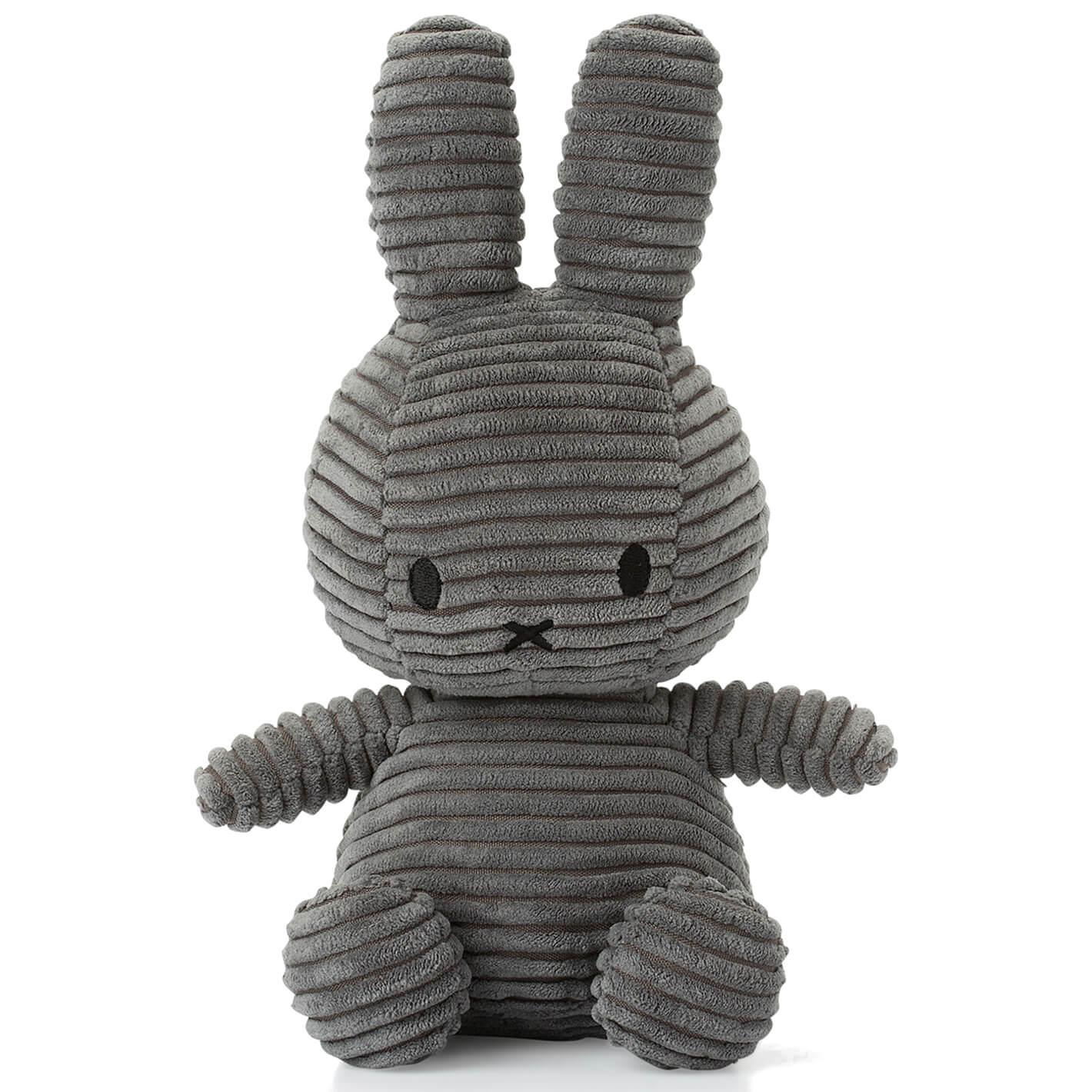 Sitting Miffy Toy - Grey Corduroy