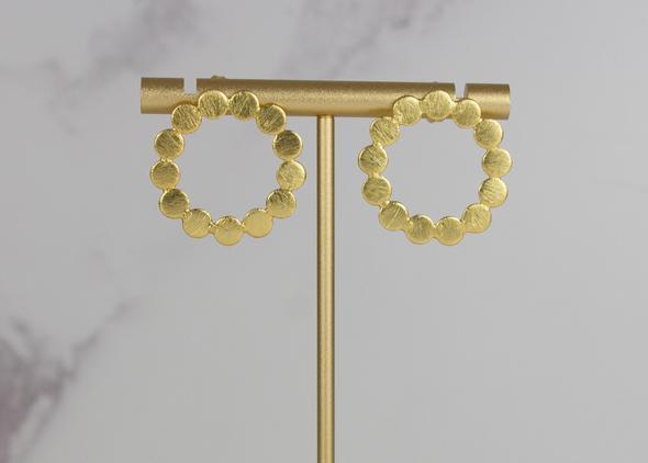 Gold +Silver Bubble Stud Earrings