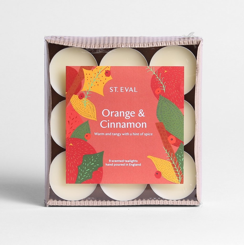 Orange & Cinnamon Scented Winter tealights