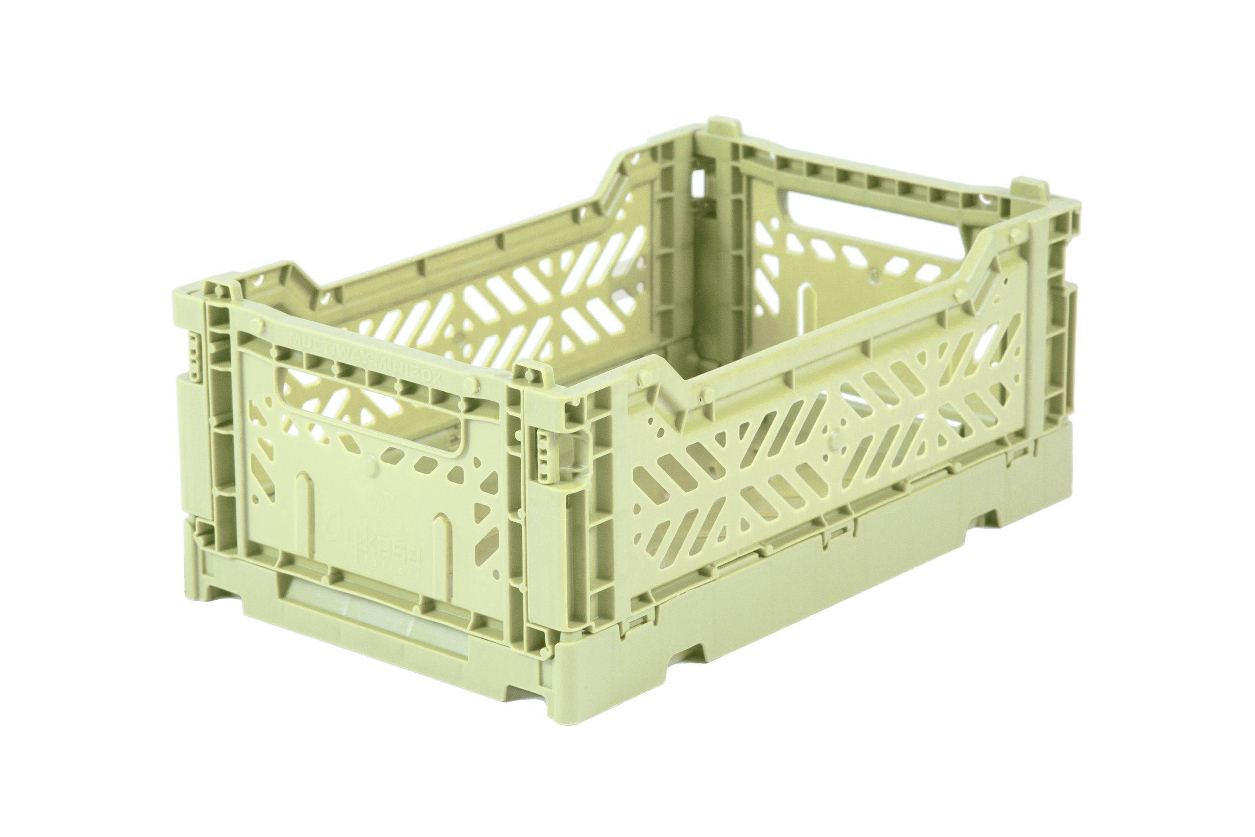 Mini Folding Crate - Lime Cream
