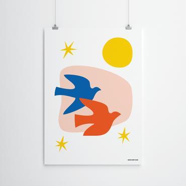 Two Birds Art Print