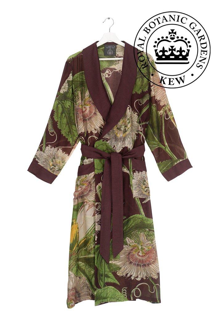 OHS X KEW RBG Passion Flower Burgundy Gown