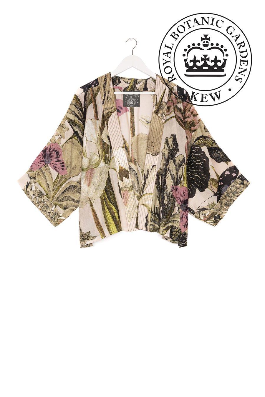 One Hundred Stars KEW Iris Blush Kimono