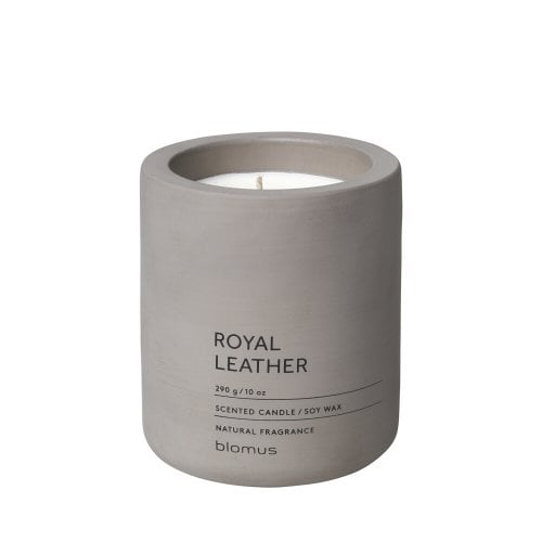 Scented concrete candle - Royal Leather Large