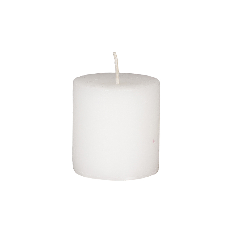 Rustic White Pillar Candle