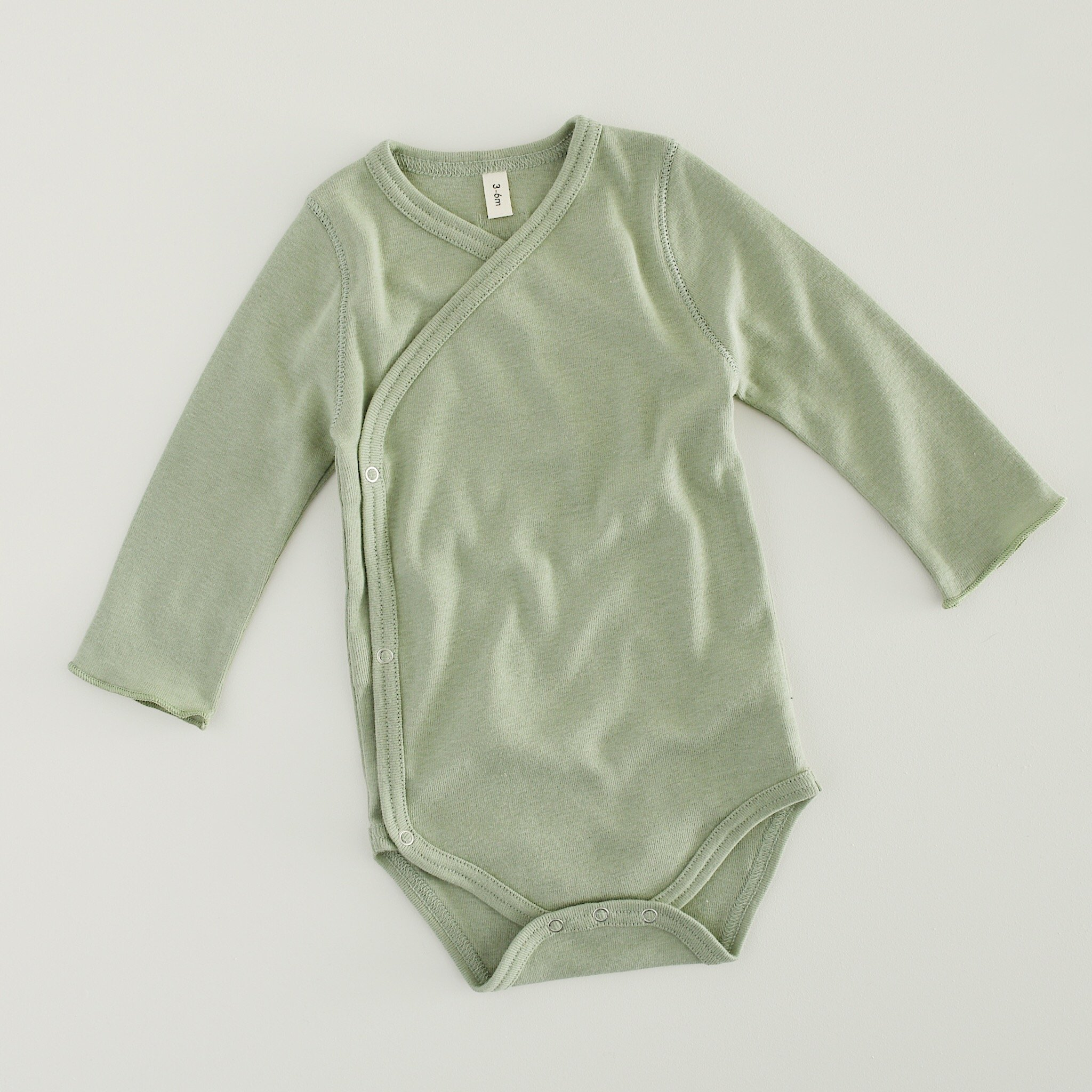Sage Green Wrapover Bodysuit