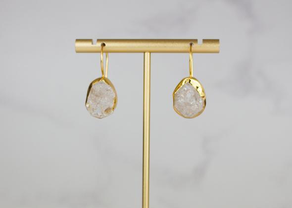 Raw Crystal Single Drop Earrings