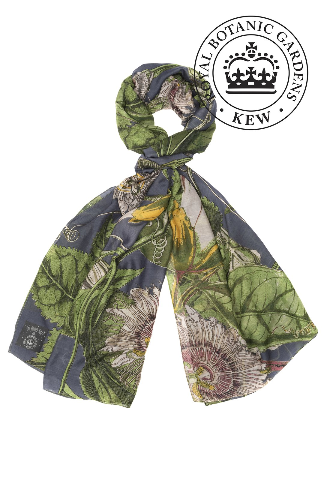 OHS X KEW RBG Passion Flower Grey Scarf
