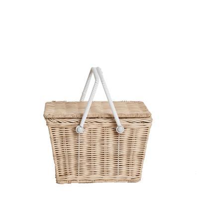 Piki Rattan Basket - Straw