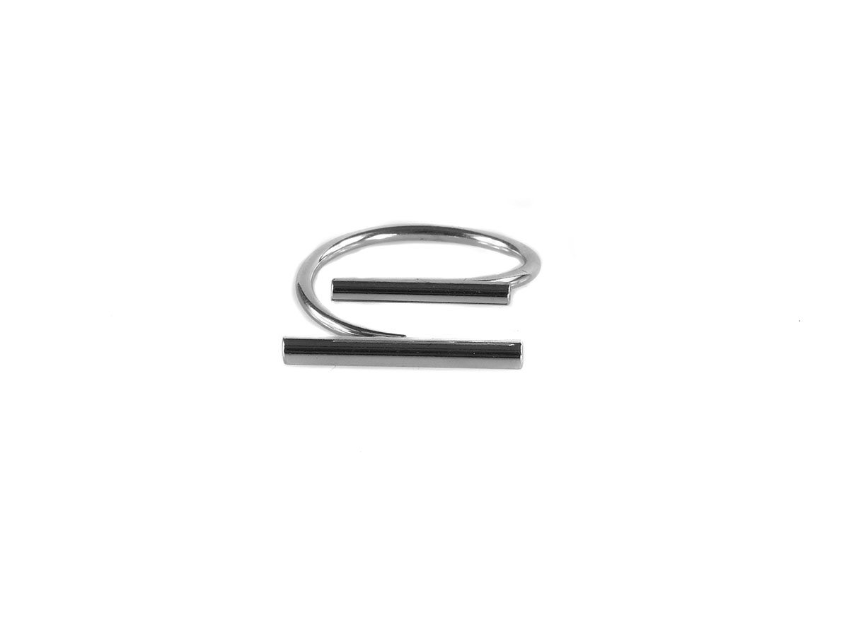 Cecile Double Bar Open Ring Gold/Silver