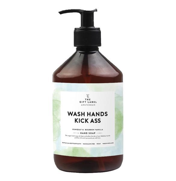Hand Soap - Wash hands kick ass/Green