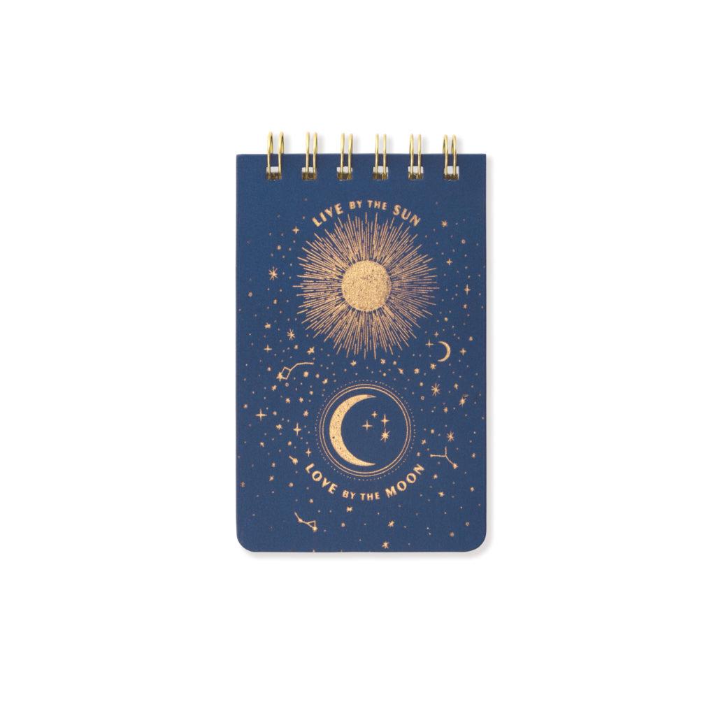 Moon and Sun Mini Notepad
