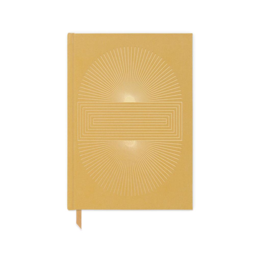 Mustard Cloth Sun Blocks Journal