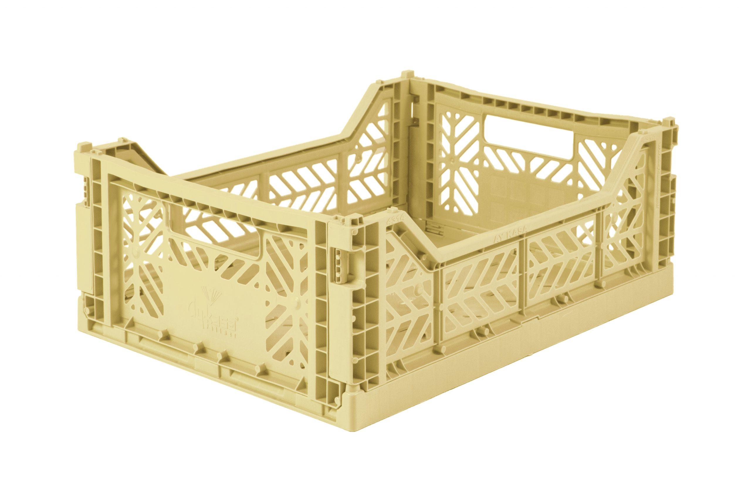 Midi Folding Crate - Banana