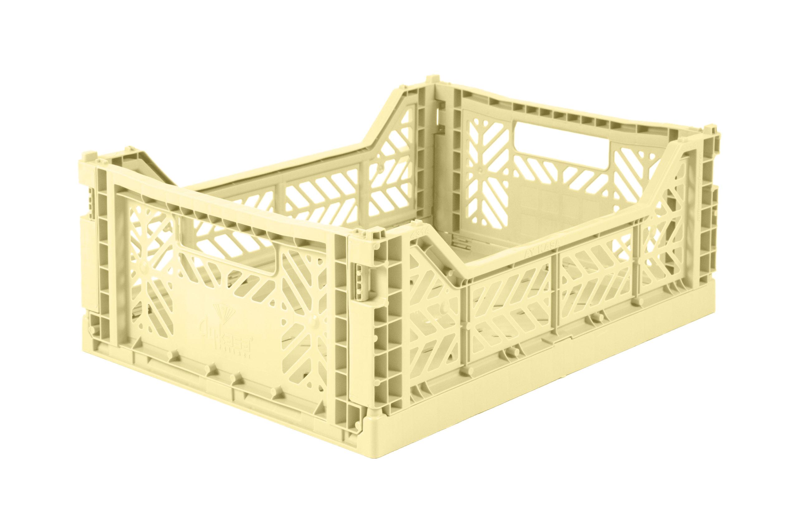 Midi Folding Crate -  Cream