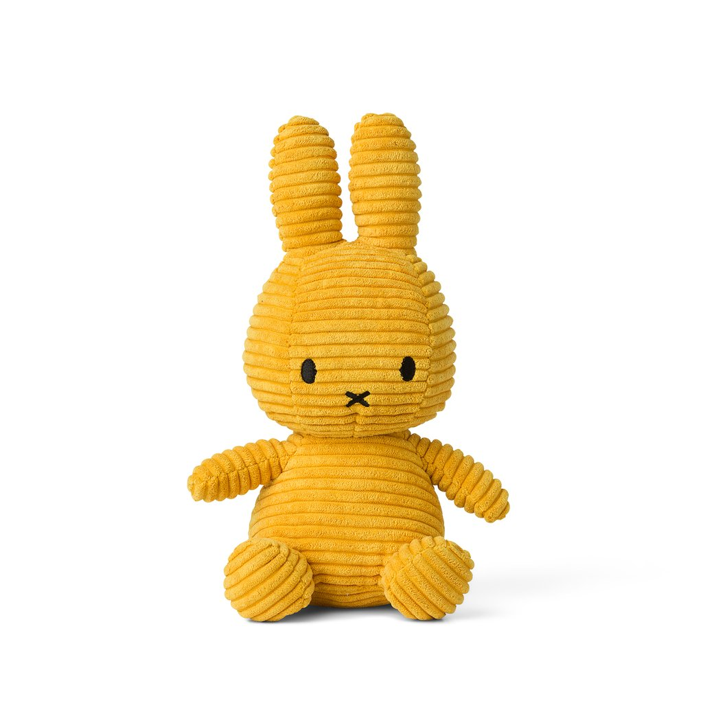 Sitting Miffy Toy - Yellow Corduroy