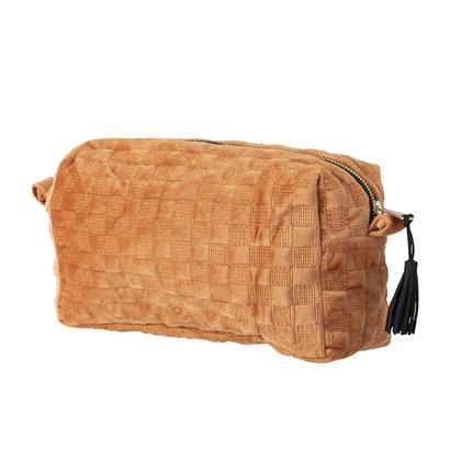 Velvet Rust Tassle Cosmetics bag