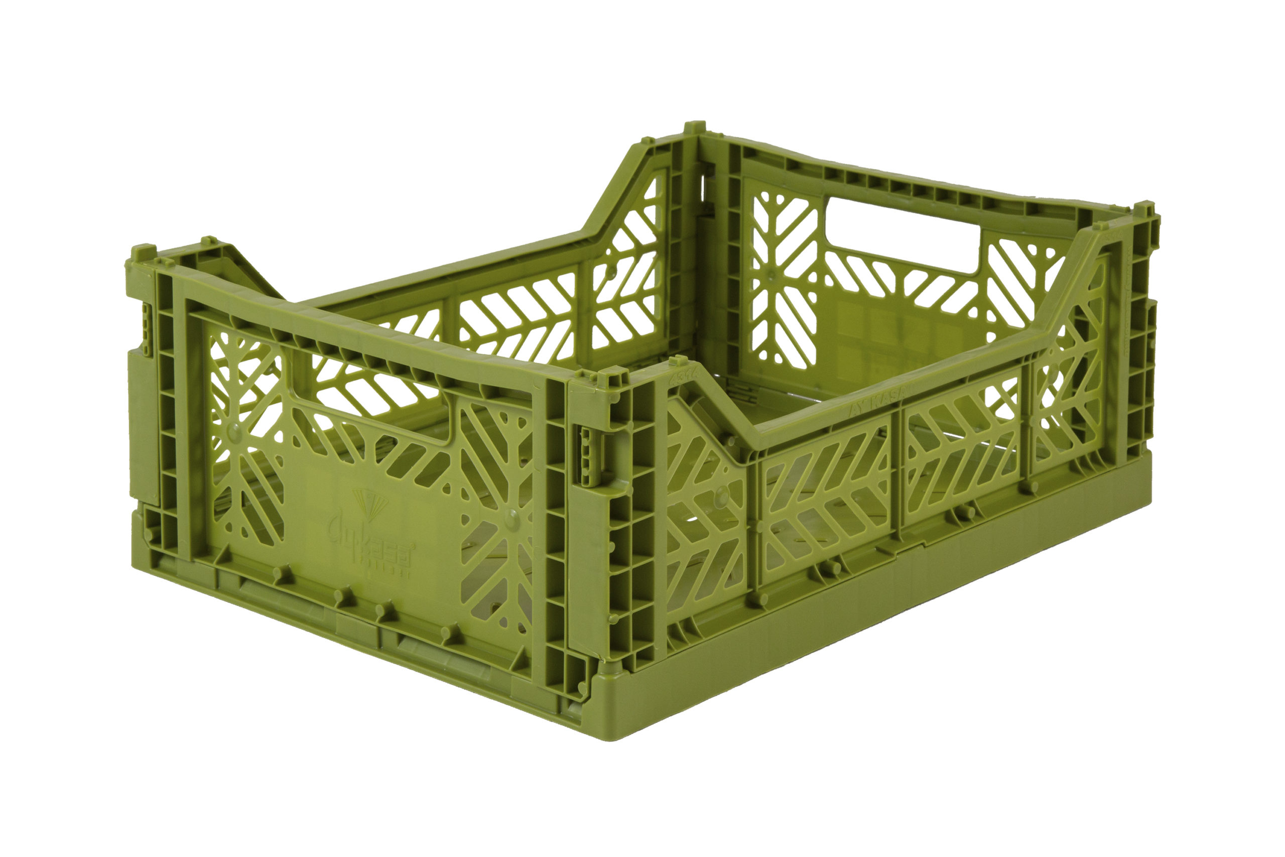 Midi Folding Crate -  Olive