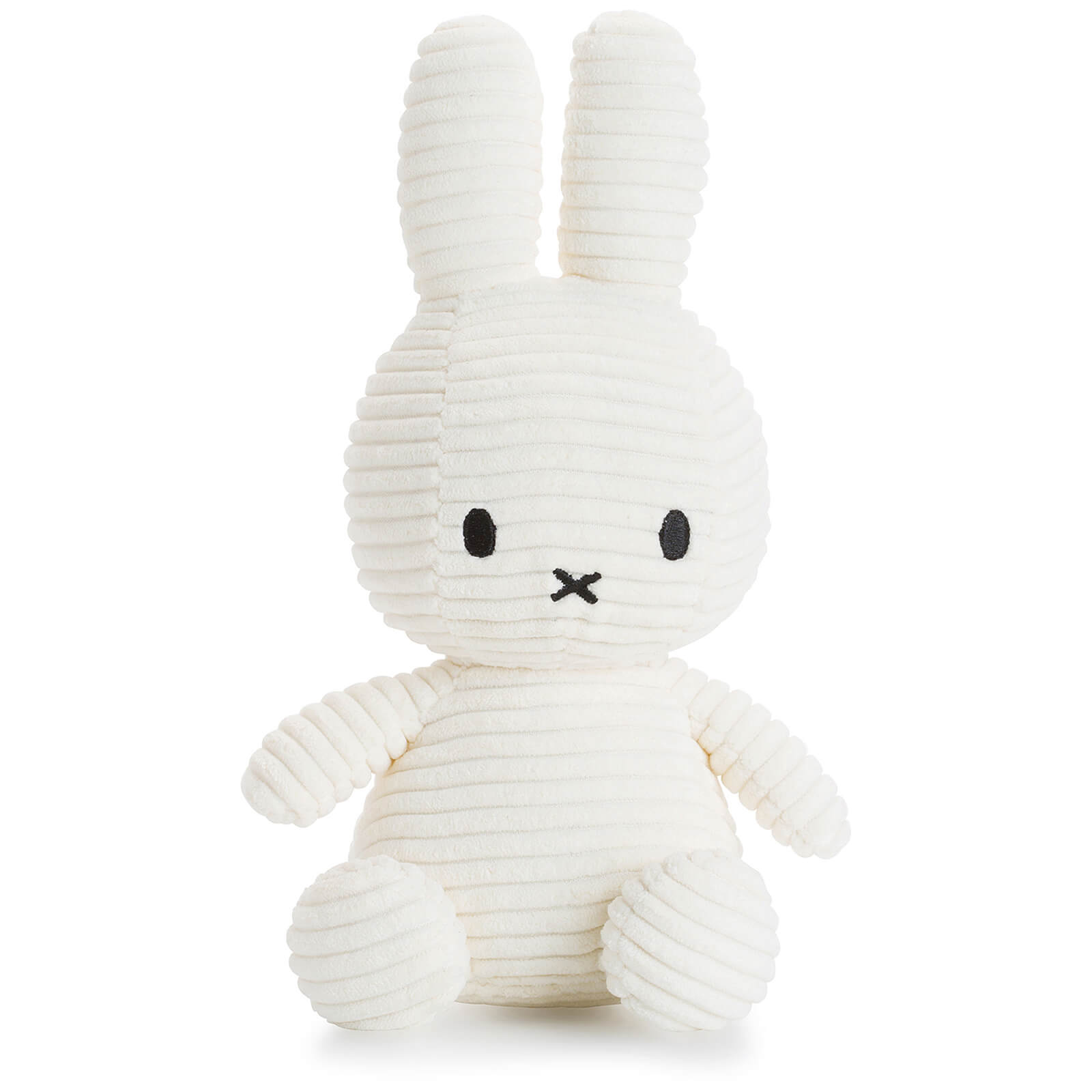 Sitting Miffy Toy - White Corduroy