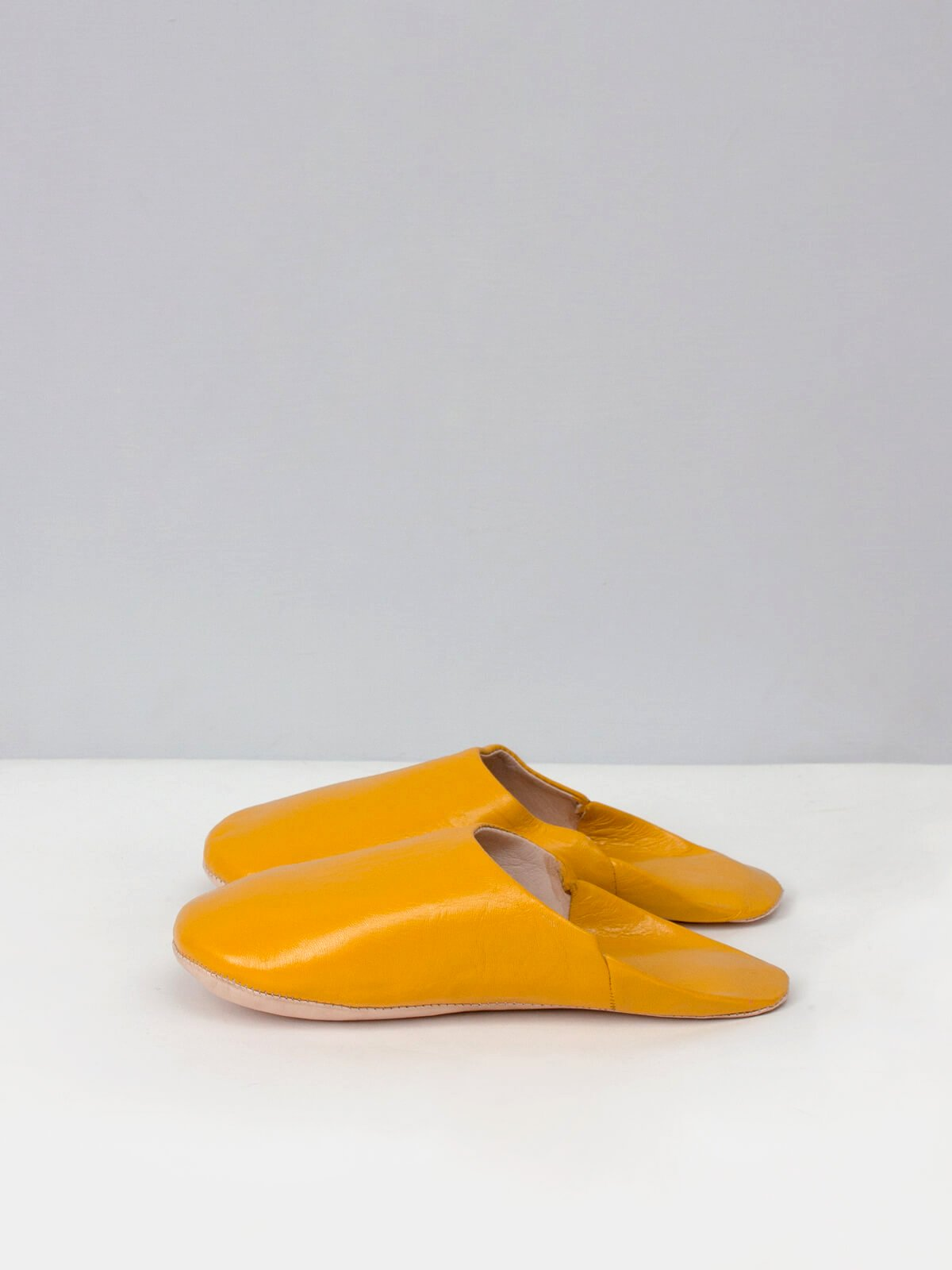 Moroccan Babouche Slippers Mustard
