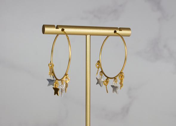 Mini Star hoop earrings