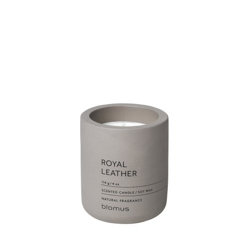 Scented Candle Concrete -  Royal Leather Small