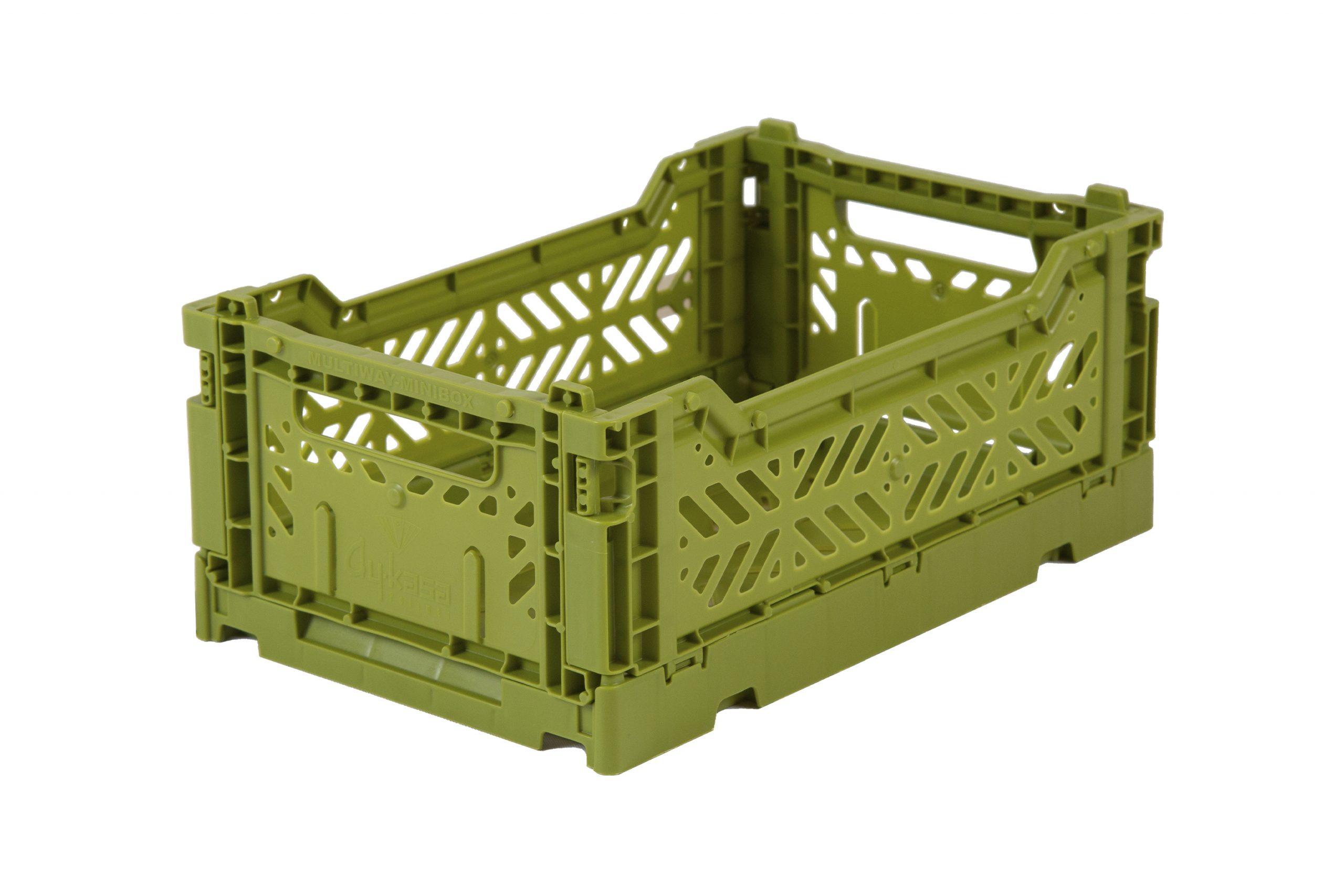 Mini Folding Crate - Olive