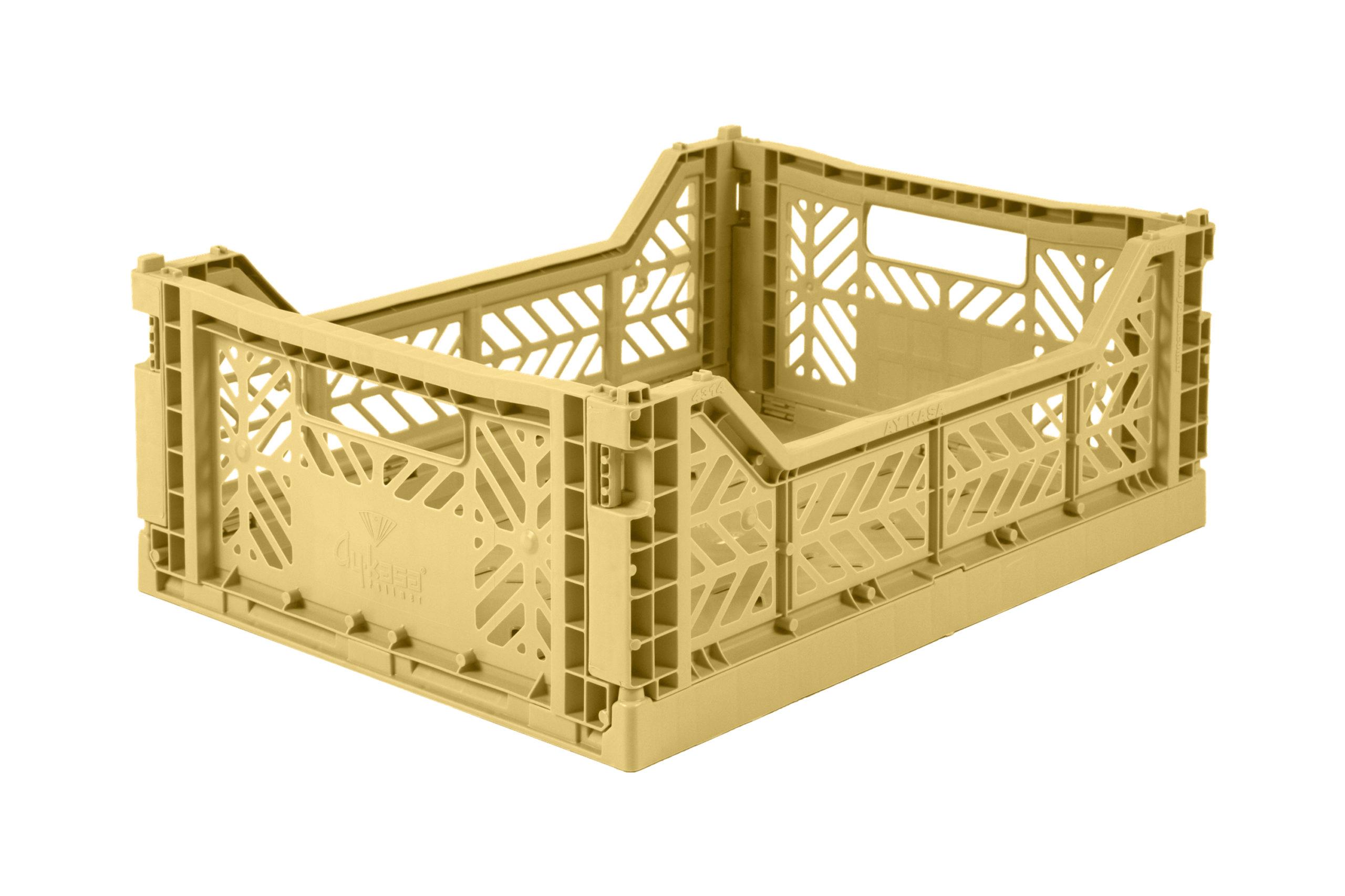 Midi Folding Crate -  Gold