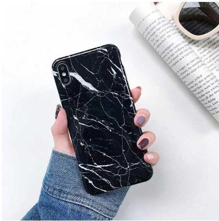 Classic Black Marble skal för Iphone XR