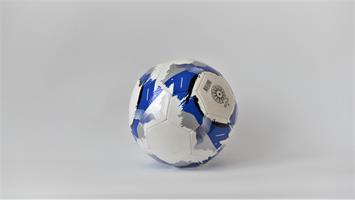 Fotboll blå-vit storlek 5