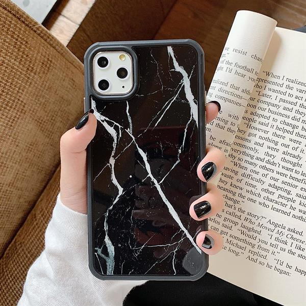 Luxurious Black Marble Skal Iphone 11